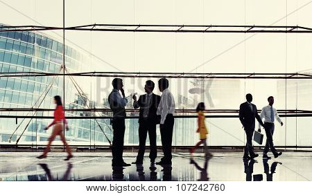Business People Meeting Discussion Commuter Concept poster