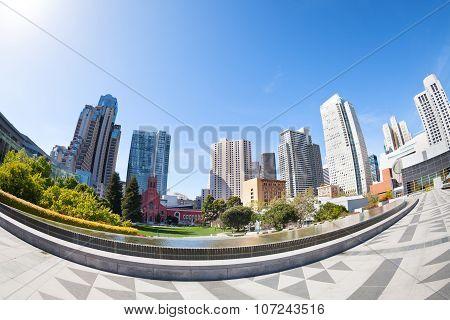 San Francisco Yerba Buena Gardens park, USA