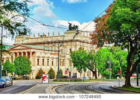 Vienna, Austria-spetember 10, 2015:palace Of Justice,vienna.neo-renaissance Building Erected From 18