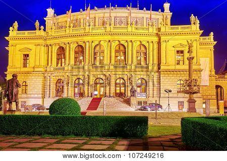 Building Of The National Opera Of Prague And The Czech Republic.czech Republic.