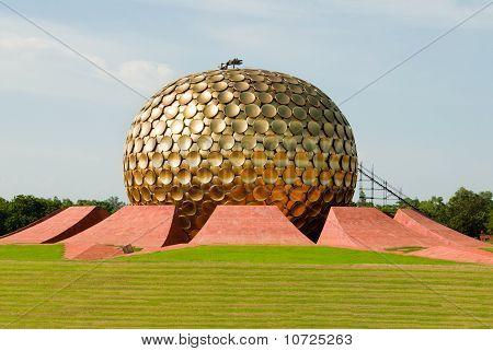 The Matrimandir at Auroville in Pondicherry (Puducherry) in South India poster