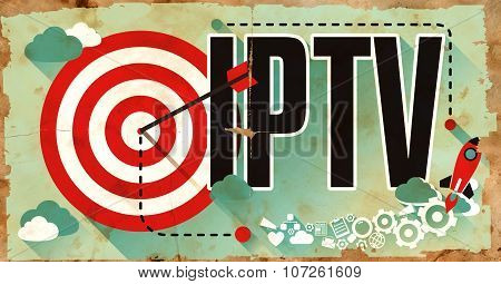 IPTV Concept. Poster in Flat Design.