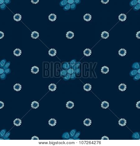 Blue flowers seamless pattern stock vector natural background