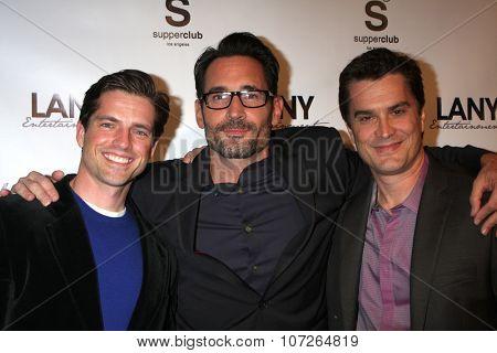 LOS ANGELES - DEC 4:  Scott Bailey, Gregory Zarian, Rick Hearst at the