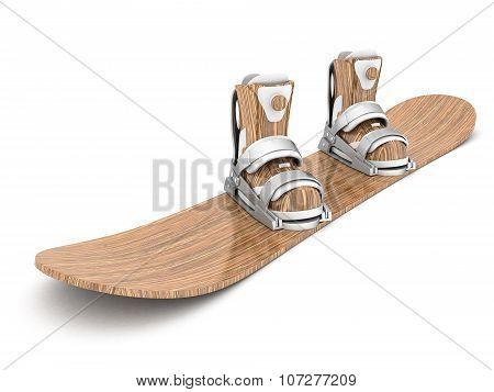 Beautiful Wood Snowboard