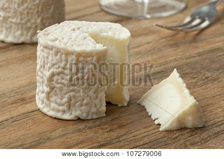 Small  French goats cheese and a piece