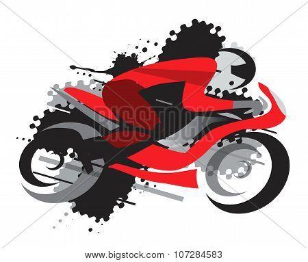 Motorbike Racing grunge