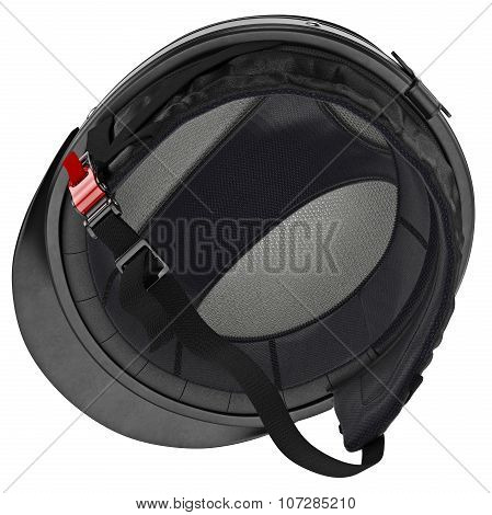 Inner stripe biker helmet with protective goggles and ear
