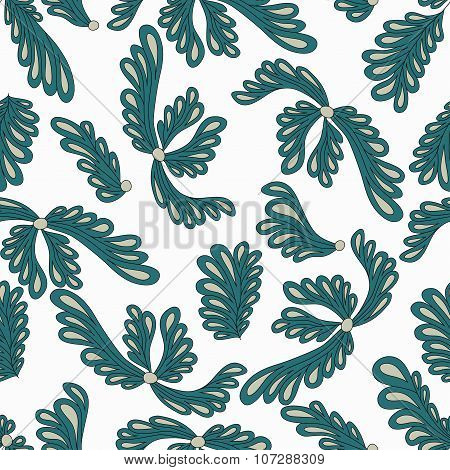 Colorful Plants Background Pattern