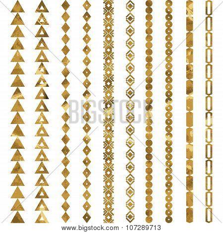 Tribal Geometric Gold Pattern.