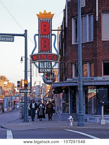 Beale Street, Memphis.