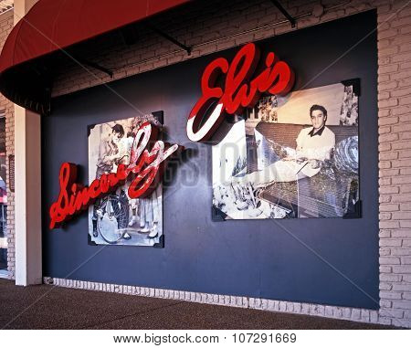 Sincerely Elvis sign, Memphis.