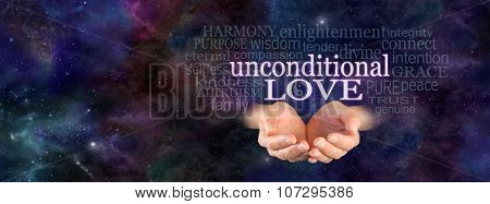 Unconditional Love Word Cloud