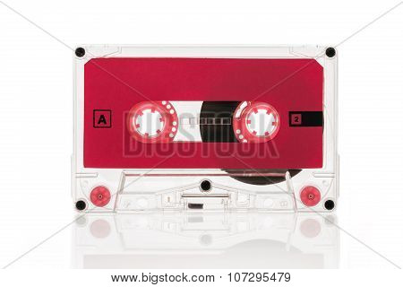 Old-school Audio Cassette Isolated On White