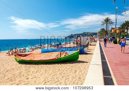 Lloret de mar. City Beach.
