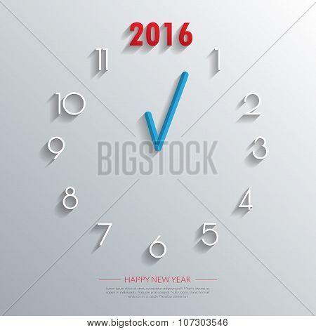 2016 Clock Background.vector/illustration.