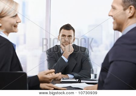 Professionals At Meeting