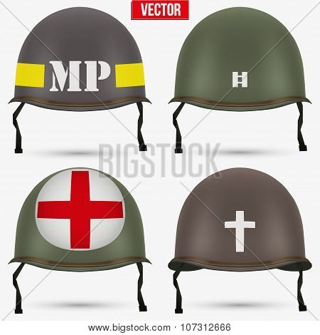 Set of Military US helmet M1 WWII