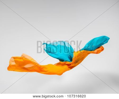 flying fabric - high speed studio shot, art object, design element