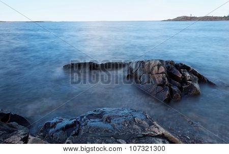 Rocks In The Milky Water
