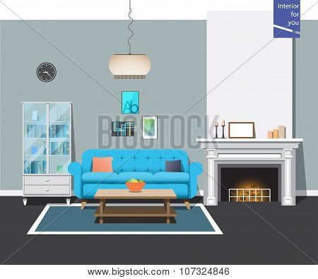 style interior fireplace room