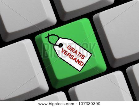 Green Keyboard - Label Free Shipping