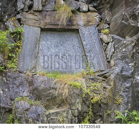 Grave Of The Famous Composer Edvard Grieg In Bergen, Norway