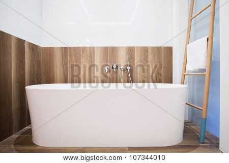 Exclusive and modern bathtub in the bathroom poster