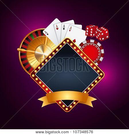 casino gambling  concept design, vector illustration eps10 graphic poster