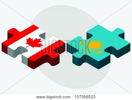 Canada And Kazakhstan Flags