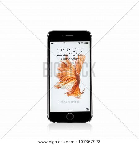 Moscow, Russia - October 06, 2015: New Iphone 6 S Is A Smartphone Developed By Apple Inc. Apple Rele