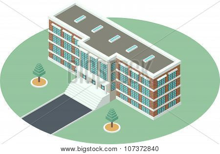 Administrative Building In Isometric Projection