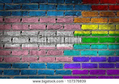 Dark Brick Wall - Trans Pride