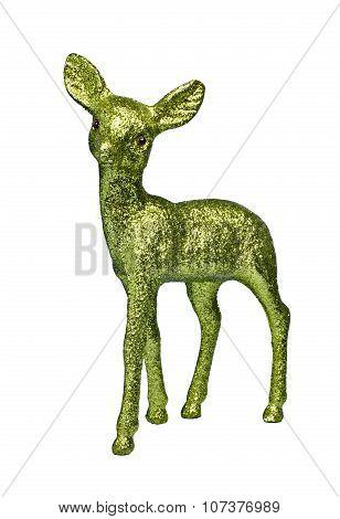 Green Glitter Deer