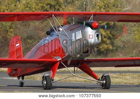 Bucker 131 Jungmann On The Ground, 23Th October 2010 In Pribram Airport, Czech Republic.