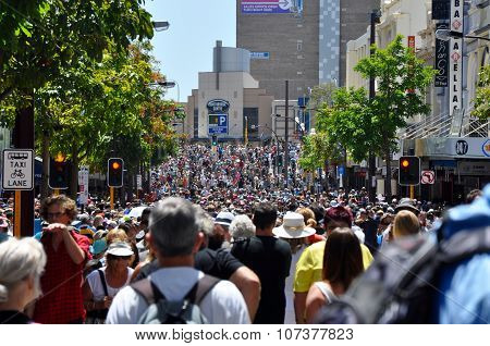 Crowds at Journey of the Giants: Perth,Western Australia