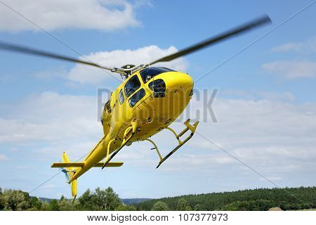 Helicopter Rescue, Helicopter In The Air While Flying