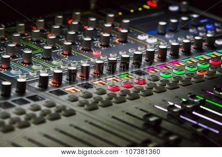 Studio Mixer Detail  With Backlit Buttons
