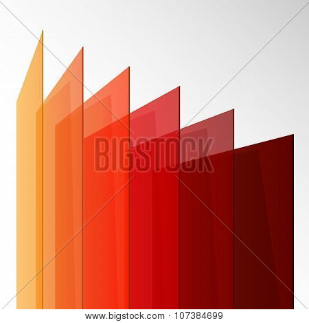 3d perspective colorful abstract rectangles on white background. RGB EPS 10 vector illustration poster