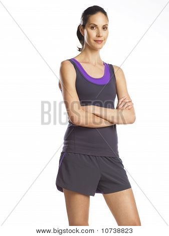 Beautiful Young Woman Ready For Sports