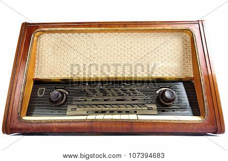 Old, Retro, Vintage Radio, Isolated Over White