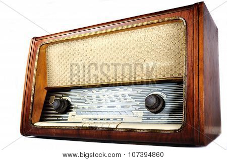 Old, Retro, Vintage Radio, Studio Isolated
