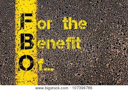 Business Acronym Fbo As For The Benefit Of...