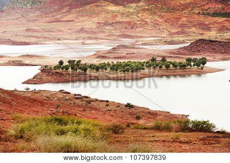 Bin El Ouidane Dam, Morocco, Africa poster