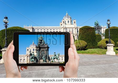 Snapshot Of Maria Theresa Monument In Vienna