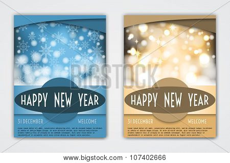 Flyer Holiday Templates with Holiday Backgrounds.