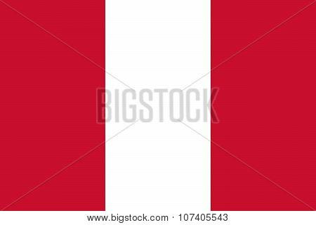 Civil flag of Peru - El Pendon Bicolor (The Bicolor Banner) La Ensena Nacional (The National Ensign) in official colors and proportions poster