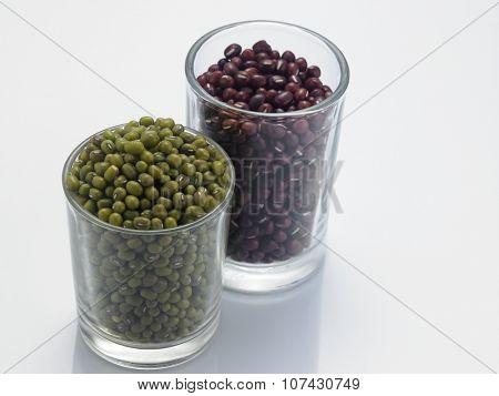 adzuki beans and mung beans