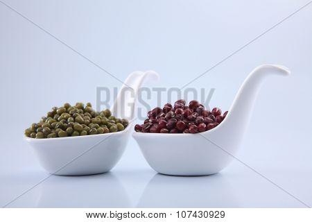 adzuki bean and mung beans