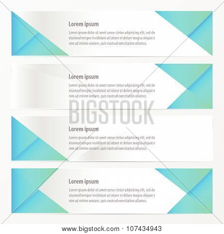 Banner Polygons Design   Blue Color